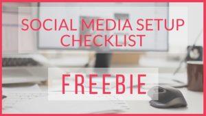 Social Media Checklist Free Download